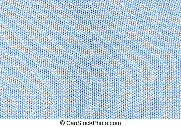 Cyan knitted cotton mesh.