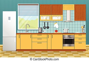 Kitchen Interior Concept - Kitchen interior concept with...