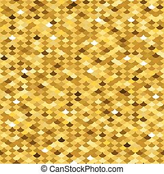Golden fish scale seamless pattern