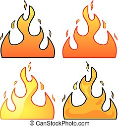 Flames - Set with four different styles of flame...