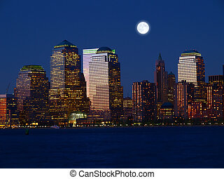 The Lower Manhattan Skyline - The Lower Manhattan Skyline in...