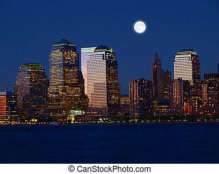 The Lower Manhattan Skyline - The Lower Manhattan Skyline in...