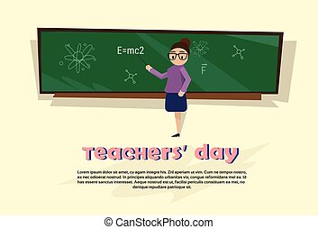 Teacher Day Holiday Woman School Class Board