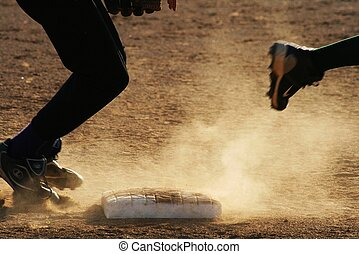 ...and he\'s off and running - a youth baseball leaugue my...