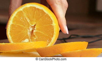 Sliced oranges