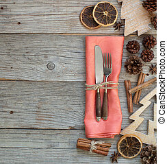 Rustic Christmas Place Setting - Christmas Place Setting on...