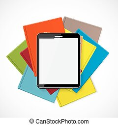 Superiority E-Book Over Paper Books Concept Vector...