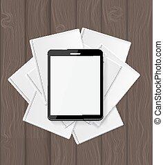 Superiority E-Book Over Paper Books Concept Vector...