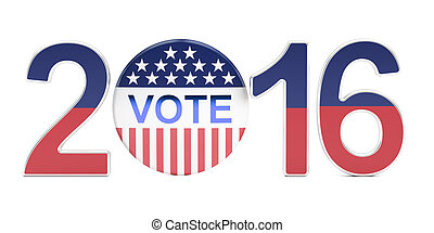 Election 2016 USA concept, 3D rendering