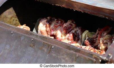 skewered meat
