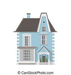 Victorian blue village house
