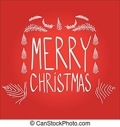 Merry Christmass lettering