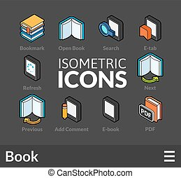 Isometric outline icons se - Isometric outline icons, 3D...