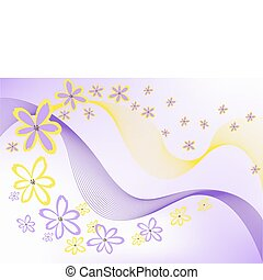 flowers on purple background - many of the same flowers on...