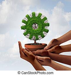 Diversidade, negócio, crescimento