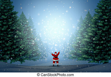 Magical Christmas Background