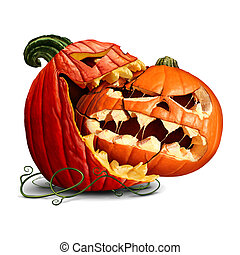 Pumpkin Eating - Pumpkin eating icon as a dominant halloween...