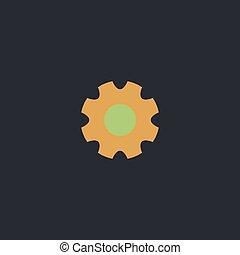 gearwheel computer symbol - gearwheel Color vector icon on...