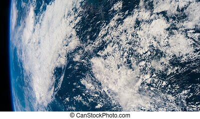 Planet Earth and hurricane seen from the ISS. Elements of this video furnished by NASA.
