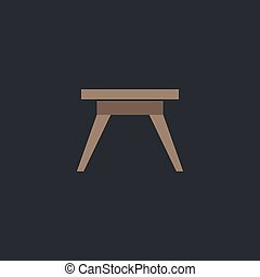 Camping table computer symbol - Camping table Color vector...