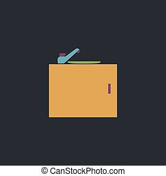sink computer symbol - sink Color vector icon on dark...