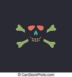 Skull crossbones computer symbol - Skull crossbones Color...