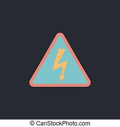 High voltage computer symbol - High voltage Color vector...
