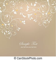 Decorative floral background Vector - Decorative white...