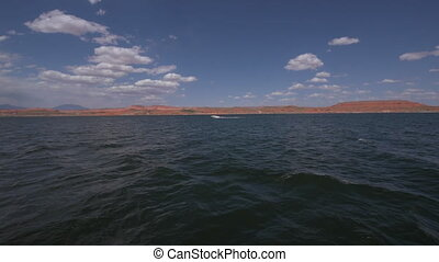 Lake Powell - View from Lake Powell Ferry towards bullfrog...