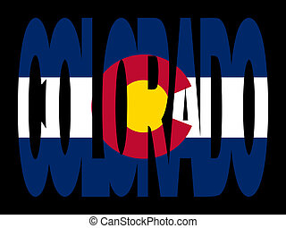 Colorado text with flag - overlapping Colorado text with...