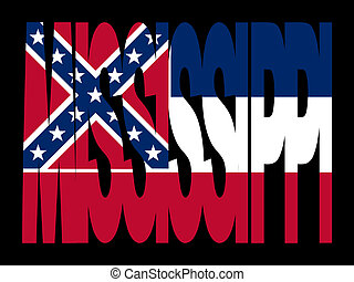 Mississippi text with flag - overlapping Mississippi text...