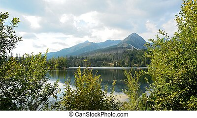 Strbske Pleso in High Tatras - View of High Tatras mountains...