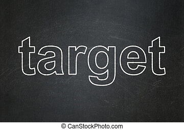 Finance concept: Target on chalkboard background