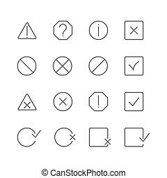 A set of information symbols, vector illustration - A set of...