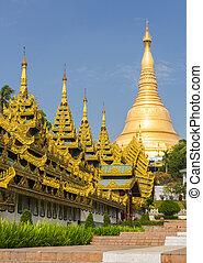 Shwedagon Paya - Southern staircase leading to Shwedagon...