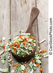 Dried vegetable spice Bio herbs product Finely chopped herbs...