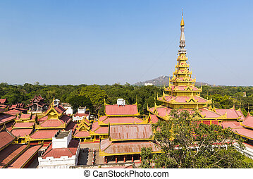 Mandalay Palace - Replica of Mandalay Royal Palace build in...