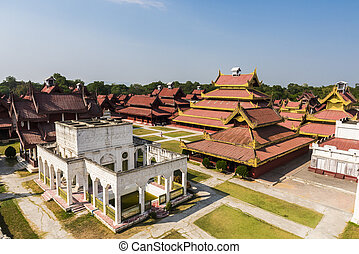 Mandalay Palace - Replica of Mandalay Royal Palace build in...