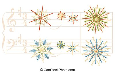 Silent Night Straw Stars Christmas