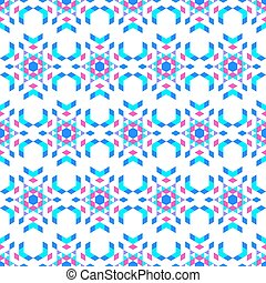 The kaleidoscope on a white background. Bright colors. Glass...