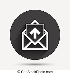 Mail icon. Envelope symbol. Outbox message sign - Mail icon....