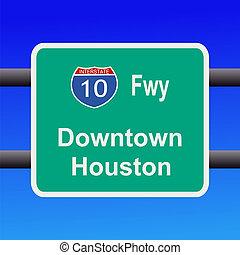 freeway to Houston sign