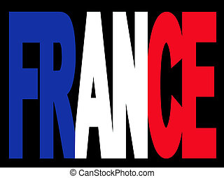 France text with flag