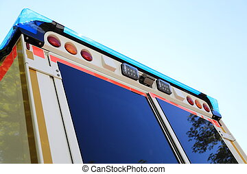 Back side of a Ambulance emergency car