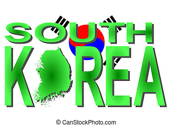 South Korea text with map