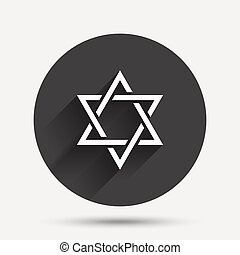 Star of David sign icon Symbol of Israel Jewish hexagram...