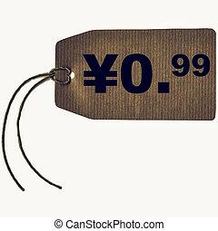 Vintage looking Tag label - Vintage looking Price tag with...