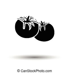 Tomatoes icon White background with shadow design Vector...