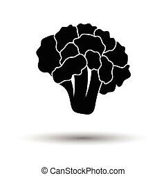 Cauliflower icon. White background with shadow design....