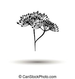 Dill icon. White background with shadow design. Vector...